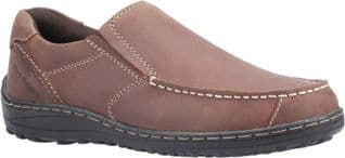 Hush Puppies Slip On Mens Shoes Thomas Slip on Loafer Brown